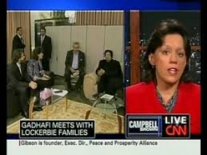 PPA Executive Director, Lisa Gibson, talked with CNN's Campbell Brown about her visit with Libyan leader, Moammar Gaddafi, whom many blame for the 1988 bombing of Pam Am Flight 103. Gibson, one of the speakers at Evangelicals for Peace, lost her brother in the bombing.