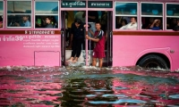 Flooding in Bangkok this month. The CIA has been urged to be less secretive about climate change following an epic year of natural weather disasters.