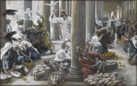 Painting by by James Jacques Tissot (French painter and illustrator, 1836-1902). Nearly all of Tissot's paintings of the Life of Christ (1884-1896) are rendered in opaque watercolor over graphite on gray wove paper and are owned by the Brooklyn Museum, New York.