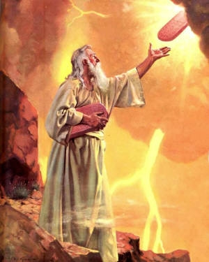 Moses on Mount Sinai receiving the Ten Commandments