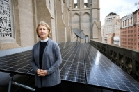 Sally Bingham worked to get solar panels on the roof of San Francisco's Grace Cathedral.